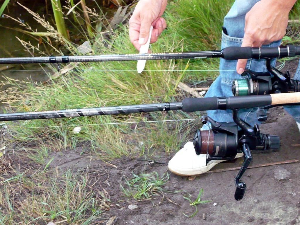 Bár a jelölőfilc használata nem volt indokolt, megpróbáltam minél pontosabban az etetésre horgászni