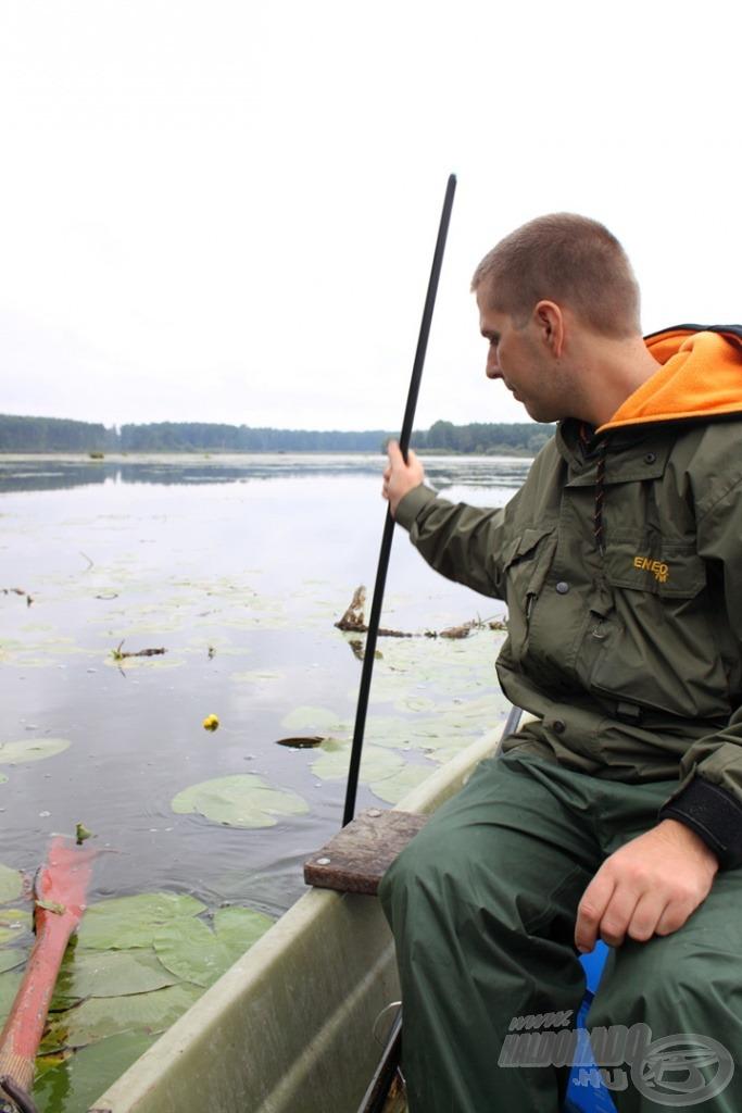 A mederfenék pontos feltérképezése elengedhetetlen része a háromfai horgászatnak