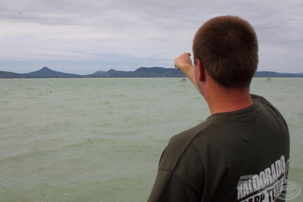 Én a partról navigáltam, így az irányt is pontosan meg tudtuk határozni