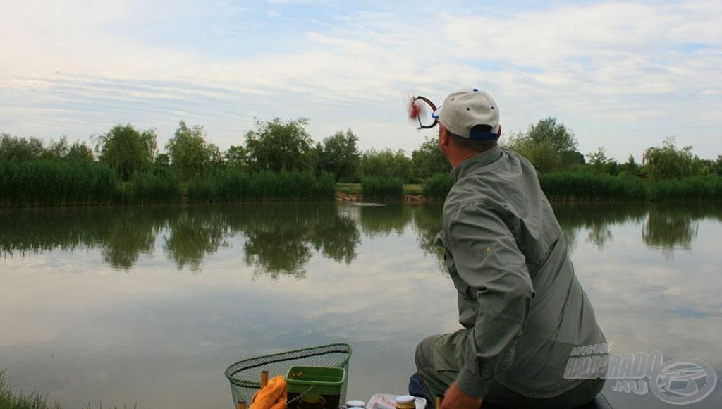 A nádfal elé kellett horgásznom
