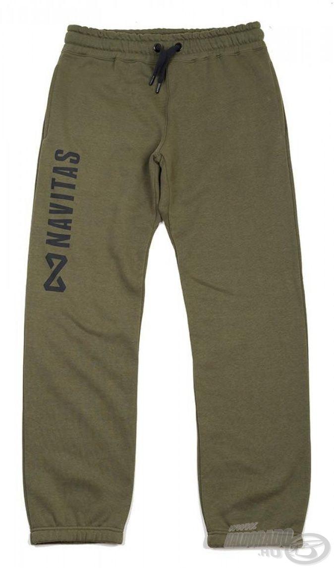 Egyszerű, de divatos szabású nadrág a NAVITAS Core Joggers Green
