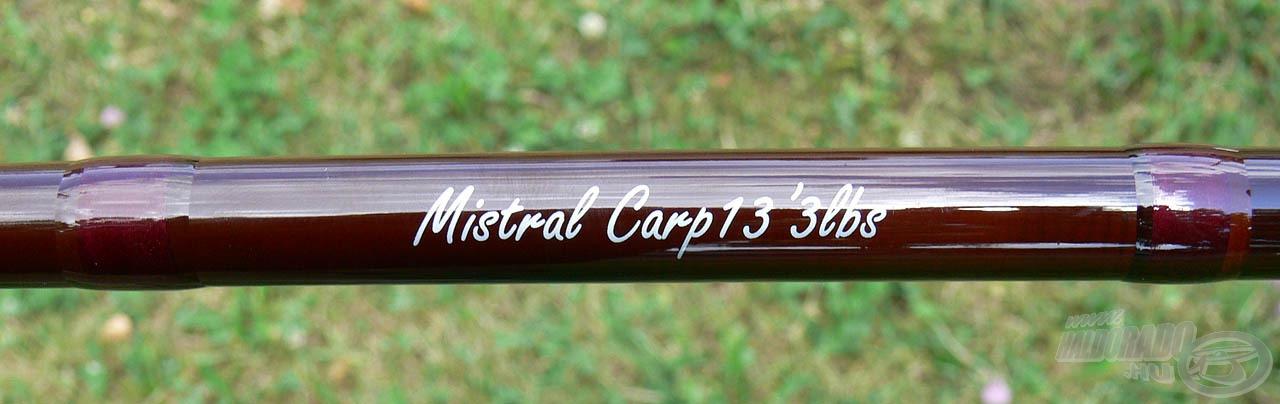 A Mistral Carp a kicsit lágyabb kategóriába tartozik, így ezzel a bottal nem csak a kapitális halak fárasztása nyújthat élvezetet