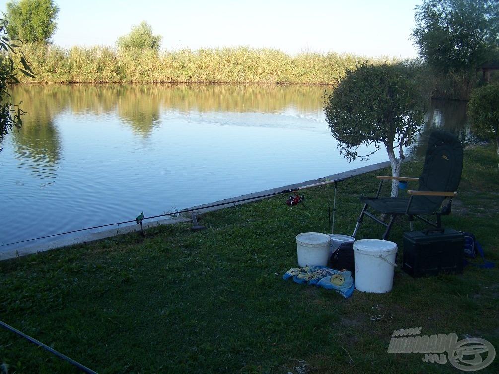 A tó sajátossága, hogy csak közvetlenül a nádas előtt lehet igazán sok és nagy halat fogni