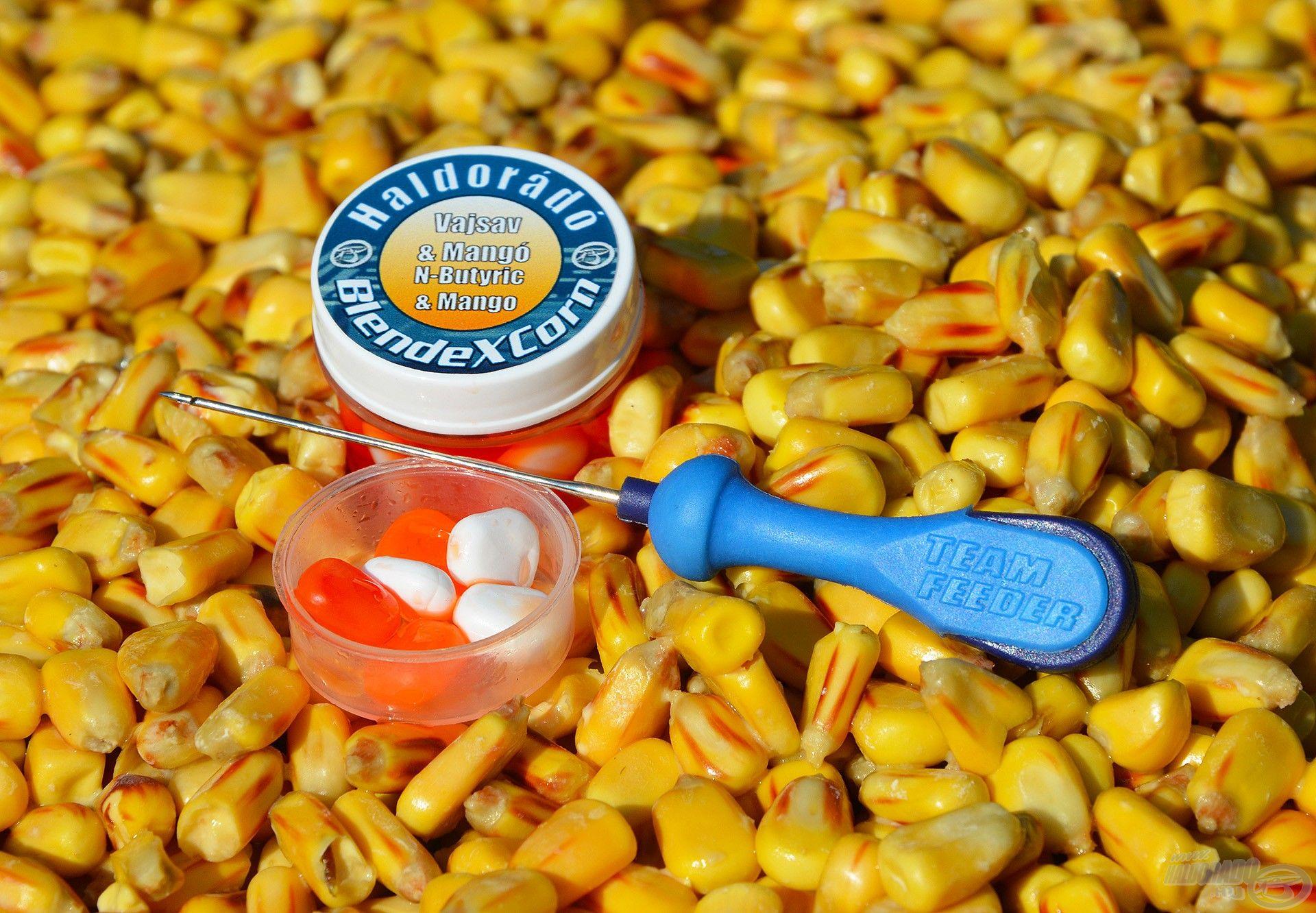 Ez az összeállítás nemcsak hatékony, hanem kifejezetten gazdaságos is, hiszen egy csomag tejsavas kukoricában rengeteg szem található, a Haldorádó BlendeXCorn pedig újra és újra felhasználható