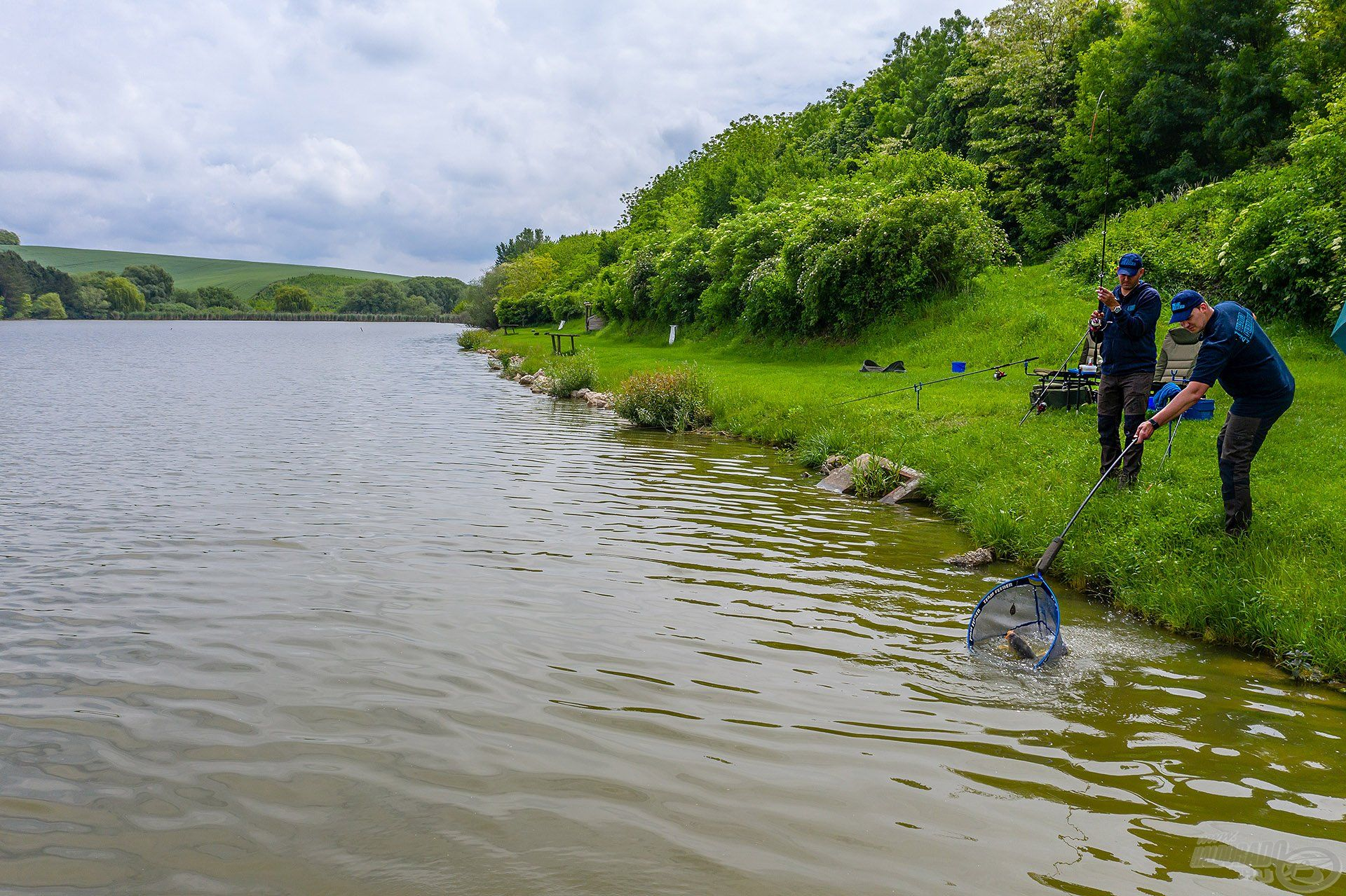 A délelőtt további részében egészen jó horgászat kezdett kibontakozni, egyre mozgalmasabbá vált a halfogás, szép folyamatosan jelentkeztek a pontyok