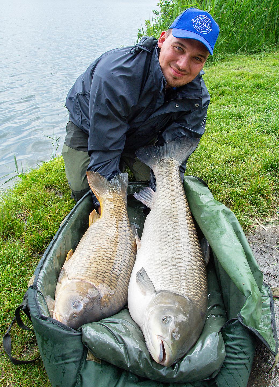 Fél órán belül két gyönyörű hal és közel 25 kg összsúly a matracon!