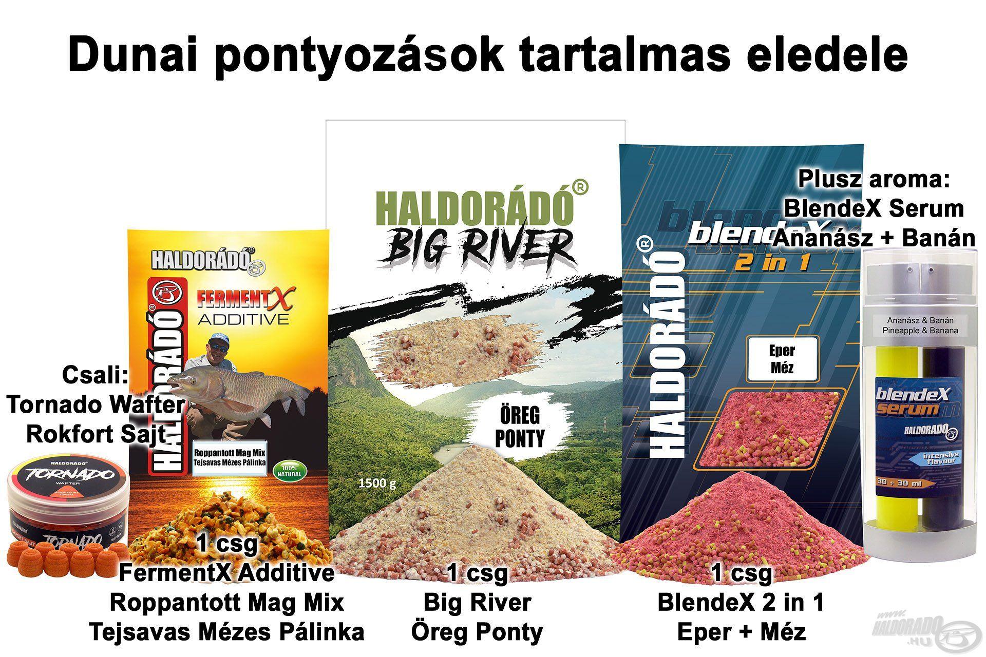 Dunai pontyozások tartalmas eledele