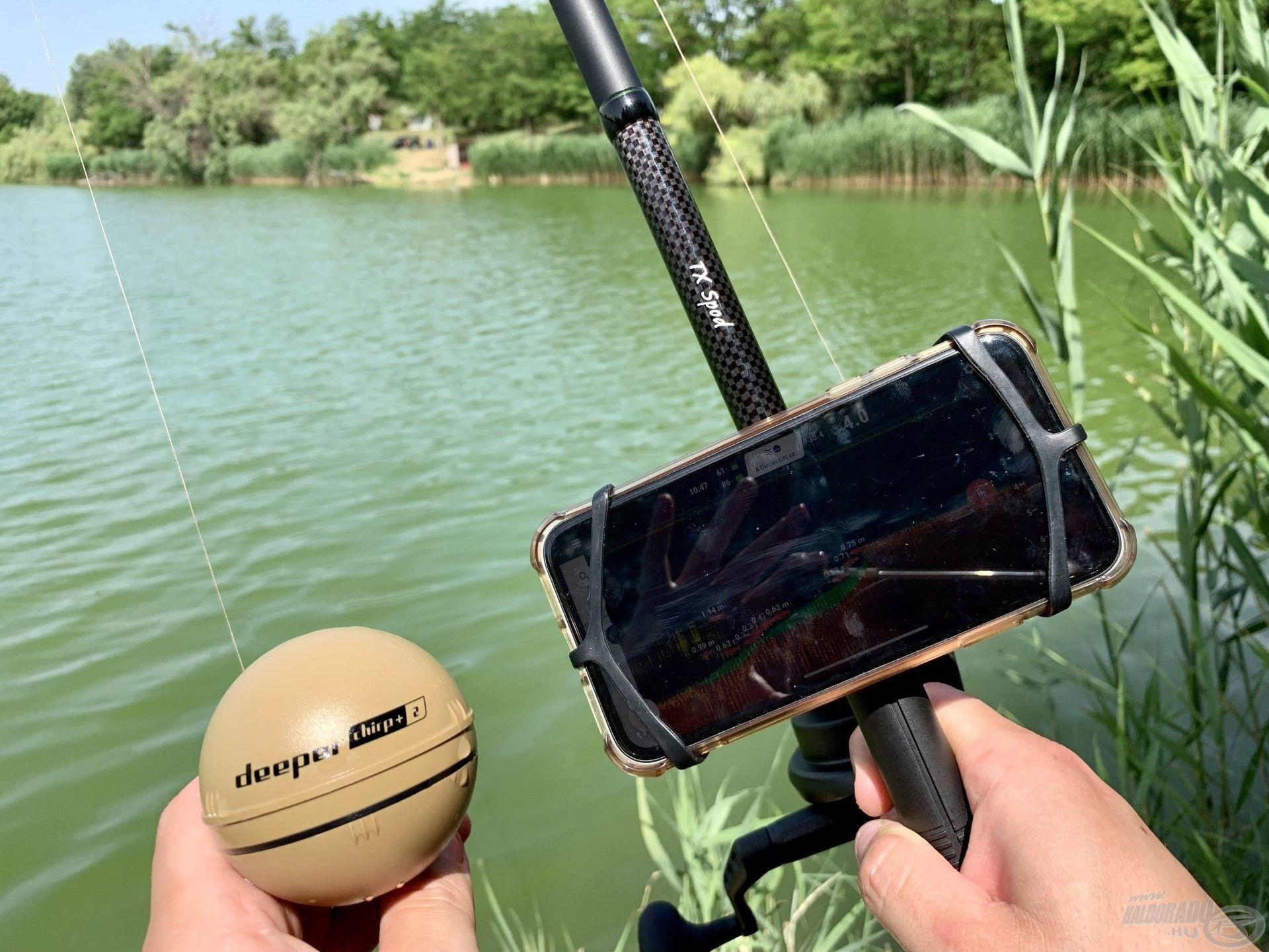 Ehhez szükség van egy kellően erős felszerelésre, egy okostelefonra és a Deeper Chirp+ 2 okos halradarra