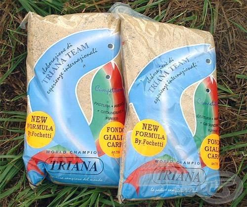 A nagyhalas Triana Fondo Gialla Carpa etetőanyag