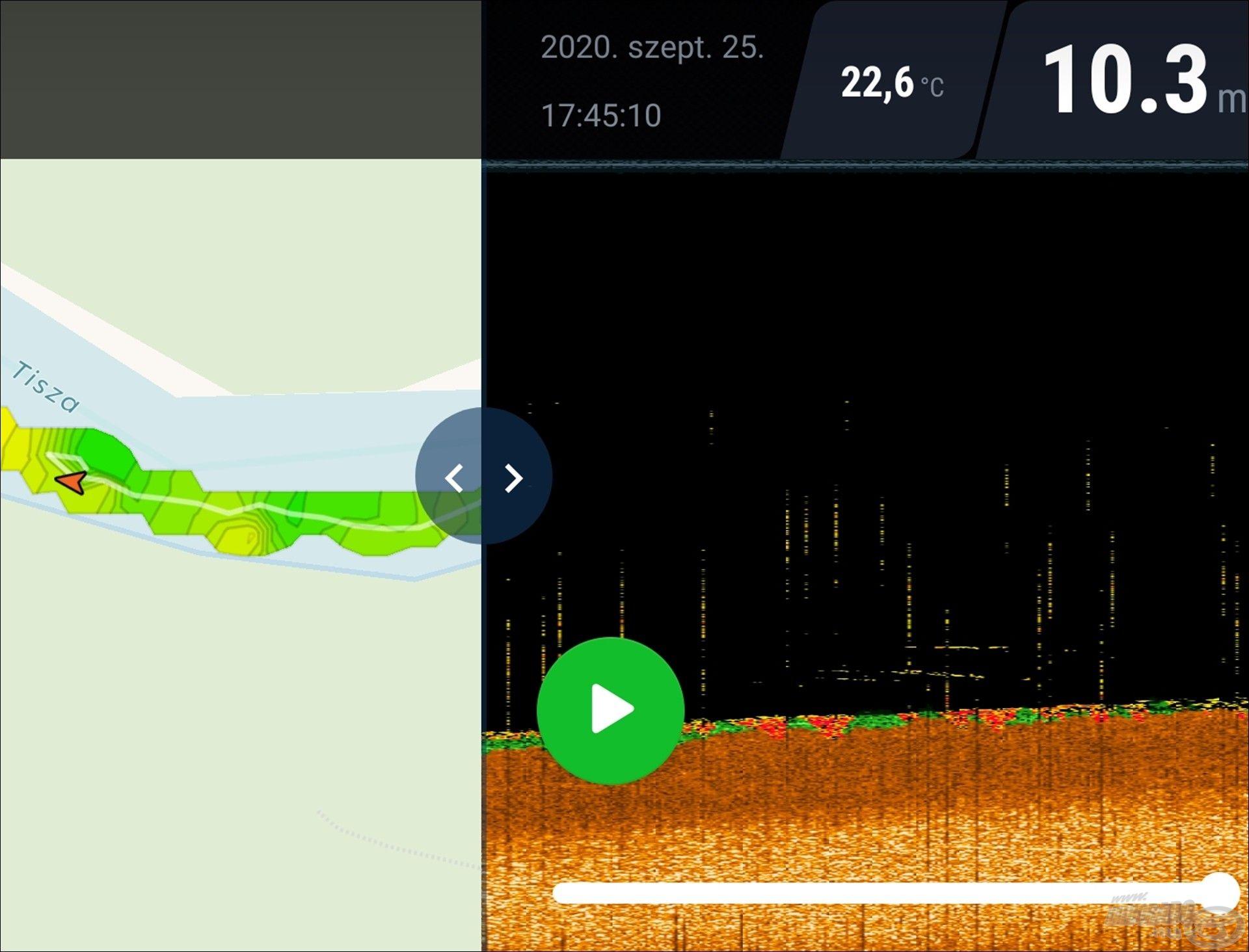 A fentebb tárgyalt pontot kerestem vissza az előzményekben, jobb oldalon a radarkép, bal oldalon a térkép. El is árulom, itt az elején, a következő látogatáskor is ott voltak az objektumok, amelyek darabos kőtömböknek bizonyultak