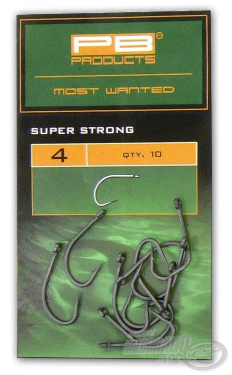 A Super Strong Hook a legkeményebb akadós terepre ajánlott erős horog