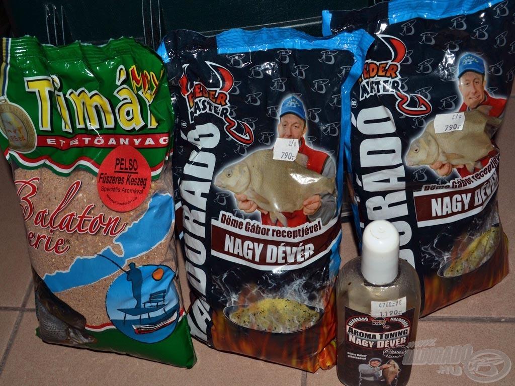 2 kg Haldorádó Nagy Dévér + 1 kg Timár Mix Balaton Series Fűszeres Keszeg + Haldorádó Aroma Tuning Nagy Dévér aroma