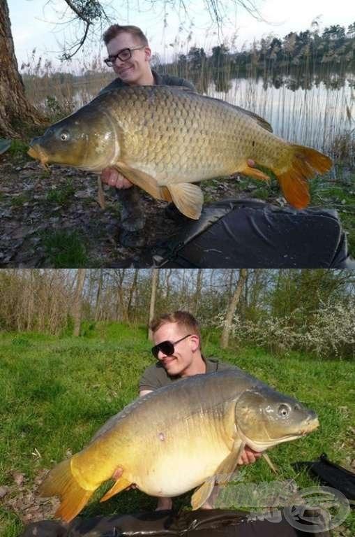 Két szebb hala azok közül, amelyeket az egyik kedvenc egyesületi taván sikerült kifognia