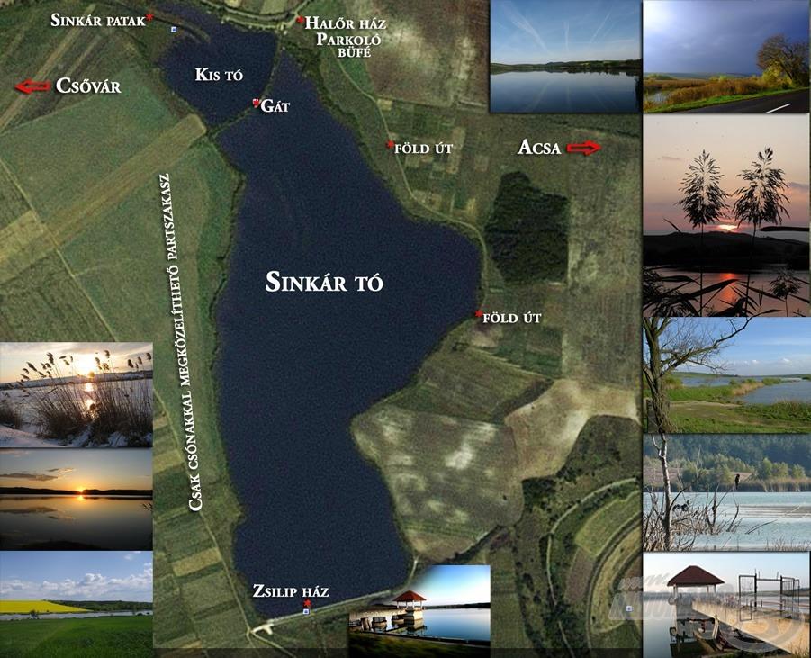 A légi felvételen látható, hogy ez bizony nem kis tó (forrás: www.sinkarto.hu)