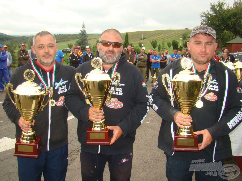 Harmadik és az A szektor győztese a B-52 Fishing Team