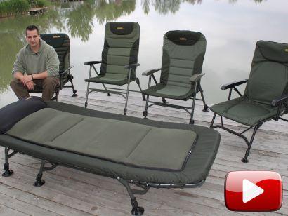 Profi székek és ágy a Carp Academy kínálatából