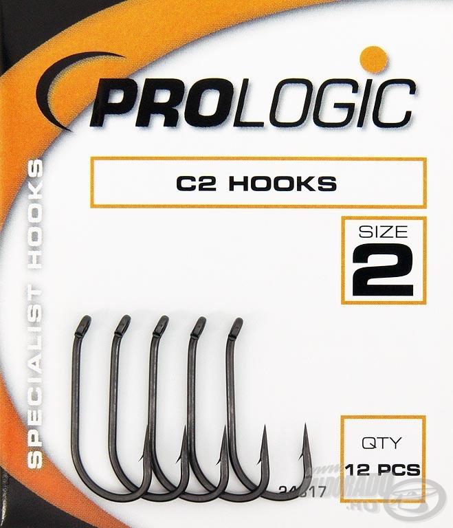 A Prologic C2 horog a hosszú szárával hívja fel magára a horgászok figyelmét