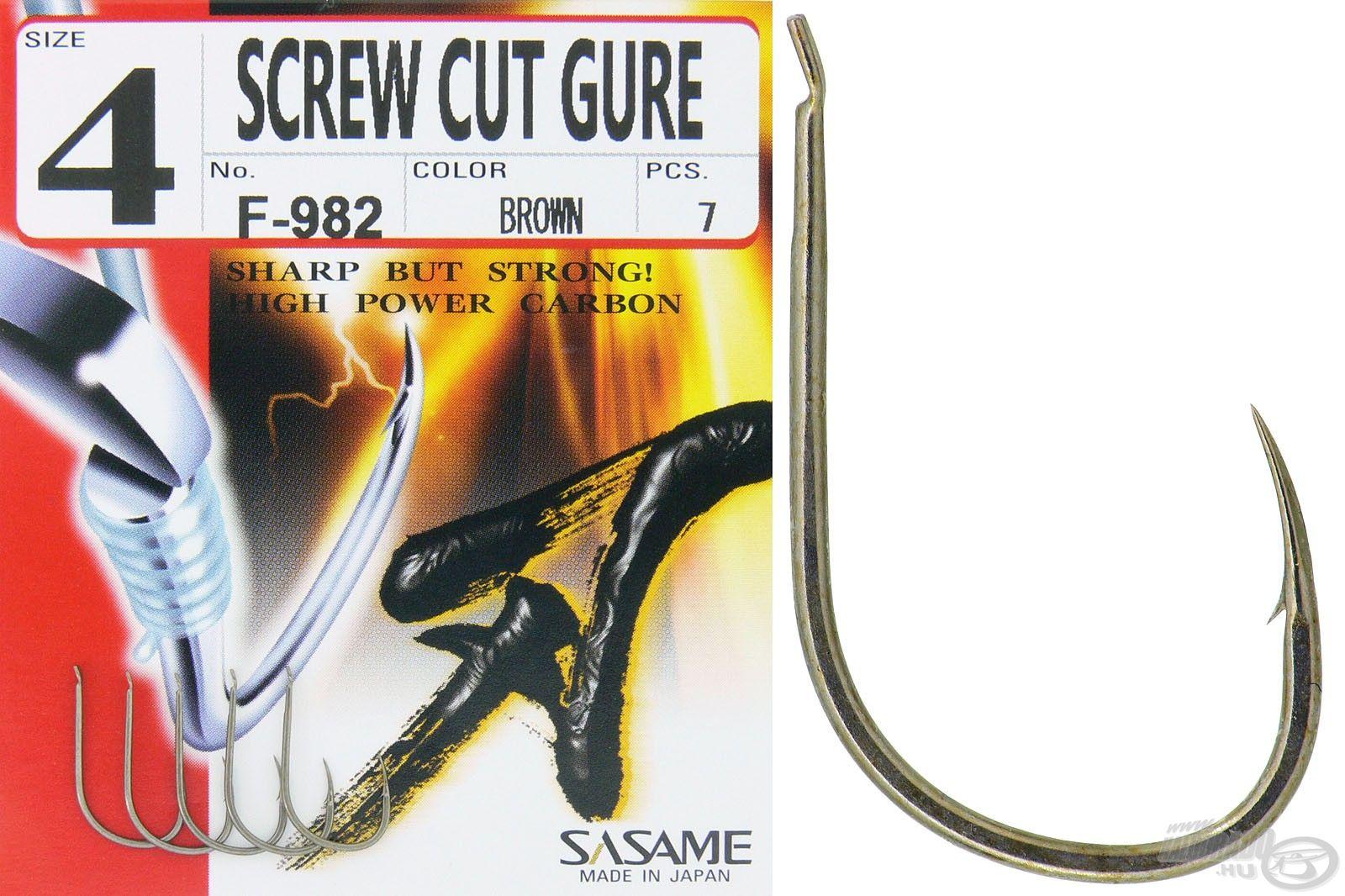 A Screw Cut Gure kerek öblű, könnyű horog, amely a feederbotos horgászok számára lehet jó választás. Ideális a Soft Pelletes method horgászathoz!