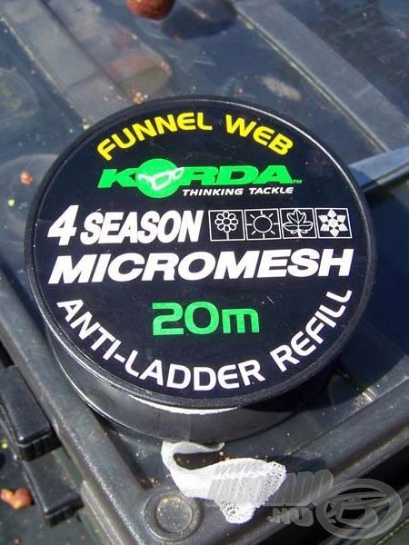 Korda 4 Season (4 évszakos) Micromesh PVA hálóba töltöttem a felsorolt csalikat, hogy a hideg vízben is gyorsan oldódjon
