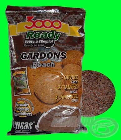 SENSAS 3000 READY GARDONS remek hidegvízi keszeges etetőanyag