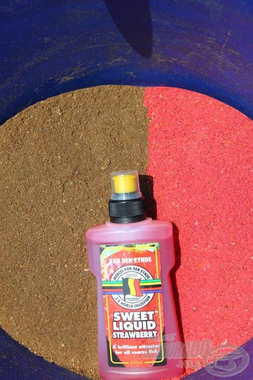 Bekeverés előtt a két különböző etetőanyag és hozzá az aroma