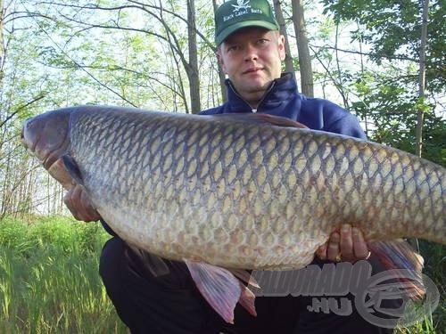 A gyors és kíméletes mérlegelés és fotózás után a hal visszanyerte szabadságát!