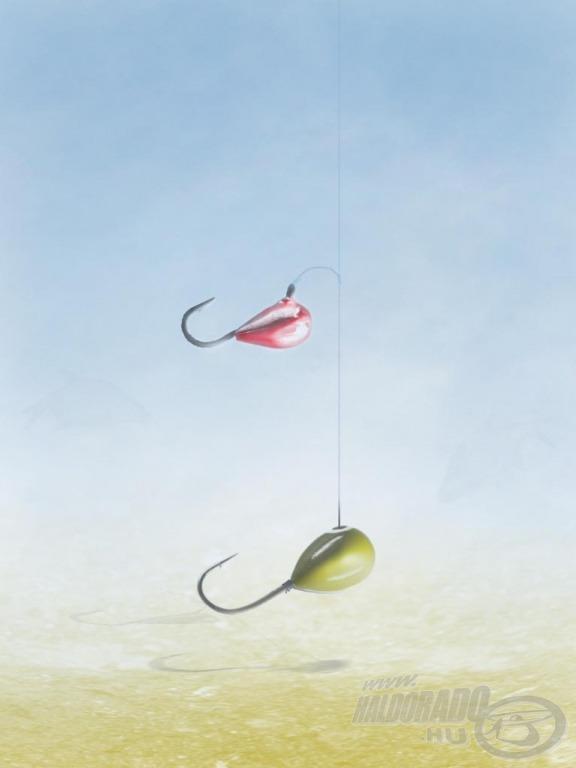 Két különböző méretű mormiska alkotja a szereléket. Első lépésként sebészcsomóval egy oldalelőkét hozunk létre. A csomótól az orsó felé álló damilrészt hagyjuk meg, a főzsinór végének irányába állót visszavágjuk. Ezzel megakadályozzuk, hogy az oldalelőke a főzsinórra tekeredjen horgászat közben. Mormiska csomót használva a kisebb mormiskát az oldalelőkére kötjük, a nagyobbat a főzsinór végére. Az oldalelőke hossza 5-6 cm, az előke csatlakoztatási pontja és a mormiska közötti távolság kb. 20 cm legyen