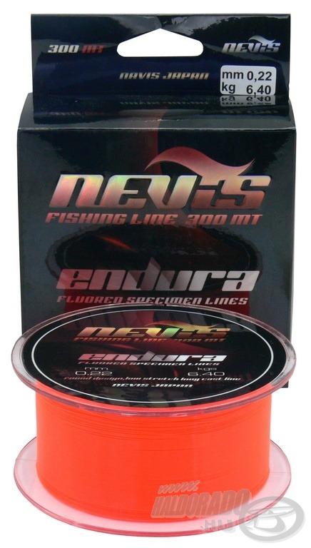 Az Endura fluoreszkáló narancssárga színének köszönhetően rendkívül jól látható dobáskor és fárasztáskor is
