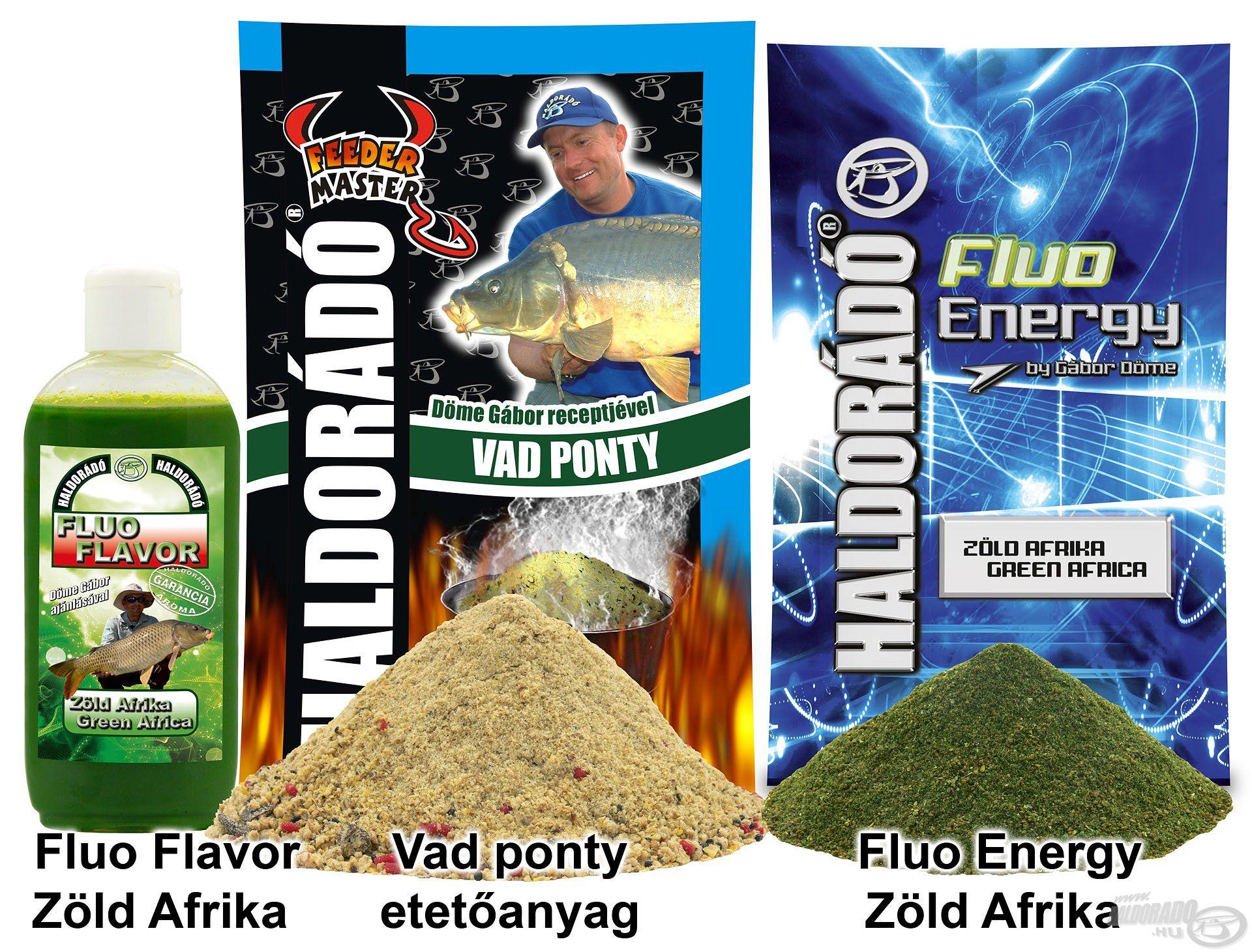 A Fluo Energy és Fluo Flavor - Zöld Afrika mind színével, mind aromájával jót tesz a Vad Ponty kajának a késő őszi időszakban
