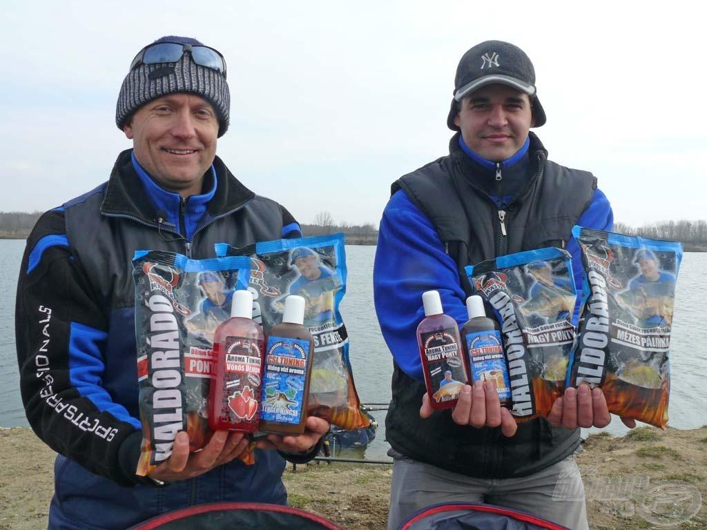 Íme, a két tavaszi keverék alapjául szolgáló összetevők, amelyeket a horgászat során használtunk