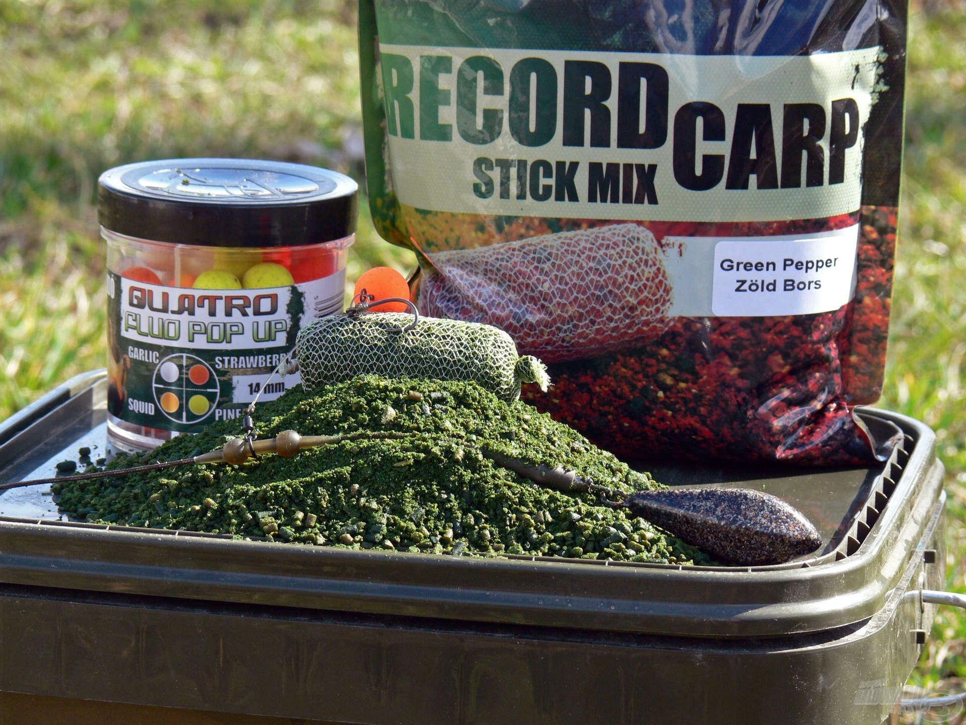 A hideg vízi horgászatok során a Zöld Bors ízesítésű Stick Mix a leghatásosabb