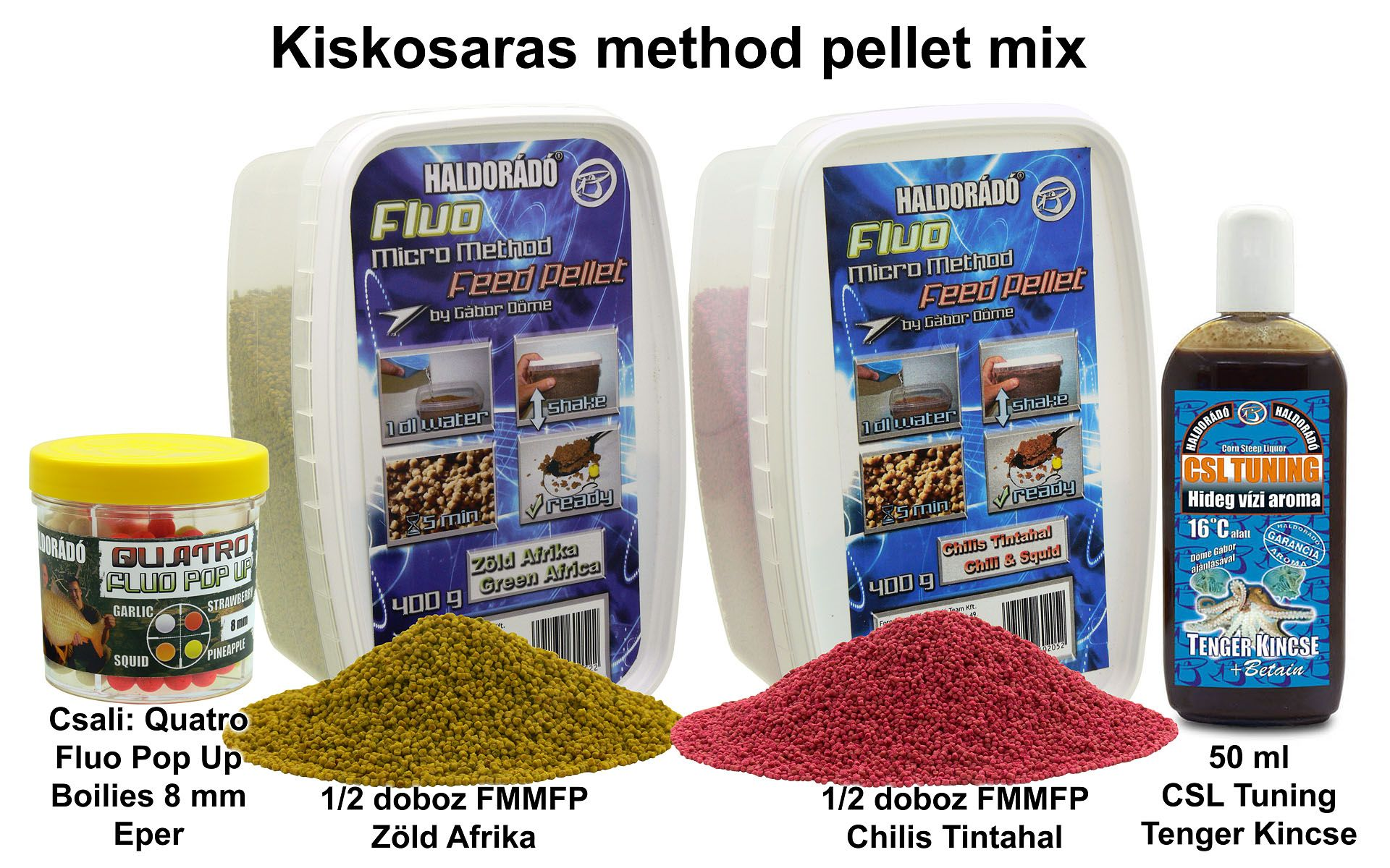 Kiskosaras method pellet mix