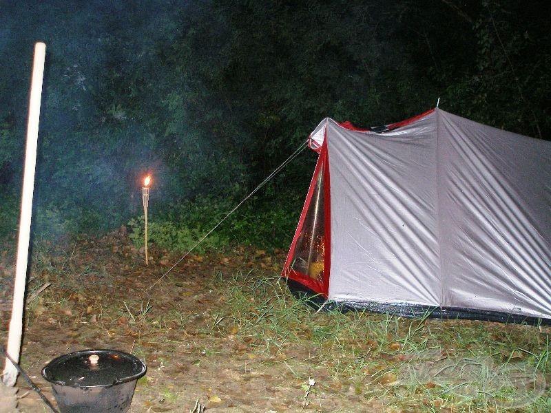 A sátor, amit egy nap alatt kétszer állítottunk fel