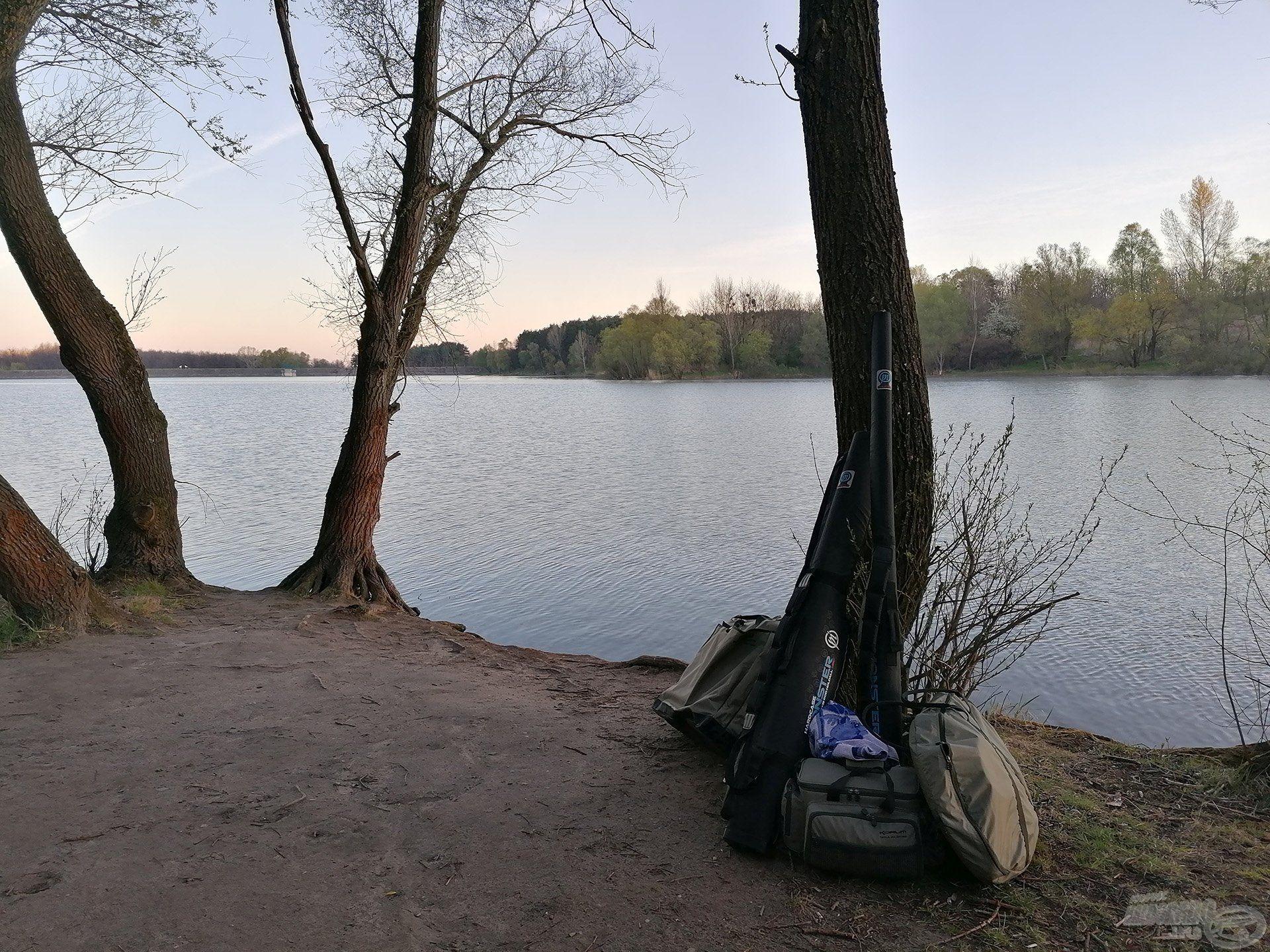 A kiválasztott horgászhely