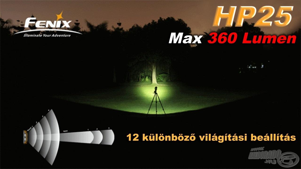 A 2 LED-es kialakítás 12 különböző világítási beállítást tesz lehetővé