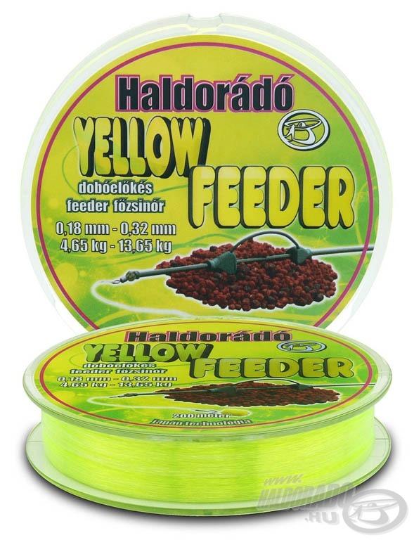 A Yellow Feeder élénksárga színű dobóelőkés feeder főzsinór
