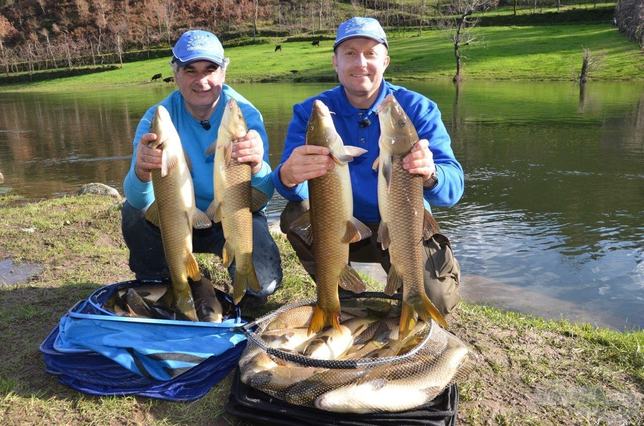 Jól látható, hogy ma kevesebb halat fogtunk, de az átlagsúly lényegesen nagyobb volt!