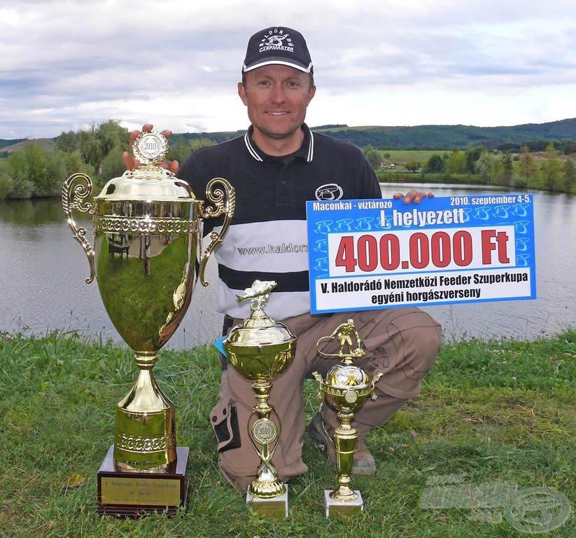 Ebben az évben szinte kivétel nélkül minden pontyos versenyen valamelyik ízesítésű Pellet Packot használtam. Soha annyi versenyt nem nyertem, mint 2010-ben!