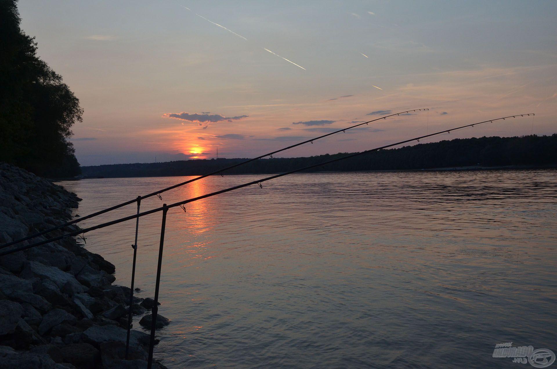 Ahogy a látómezőn lebukott a nap, véget ért a halak aktivitása is