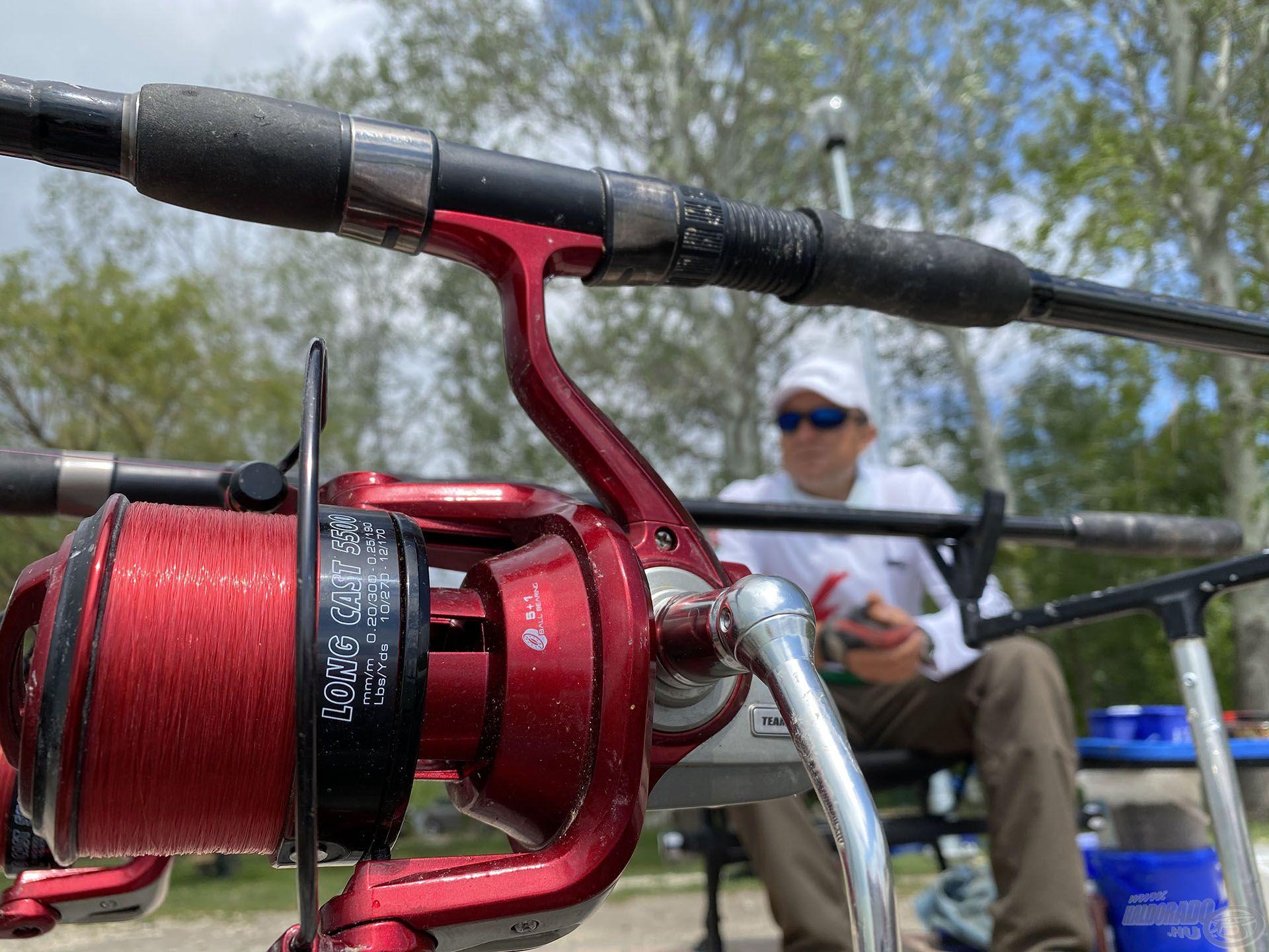 By Döme TEAM FEEDER Master Carp Pro 420LC botokkal és Long Cast 5500 orsókkal horgásztam itt is