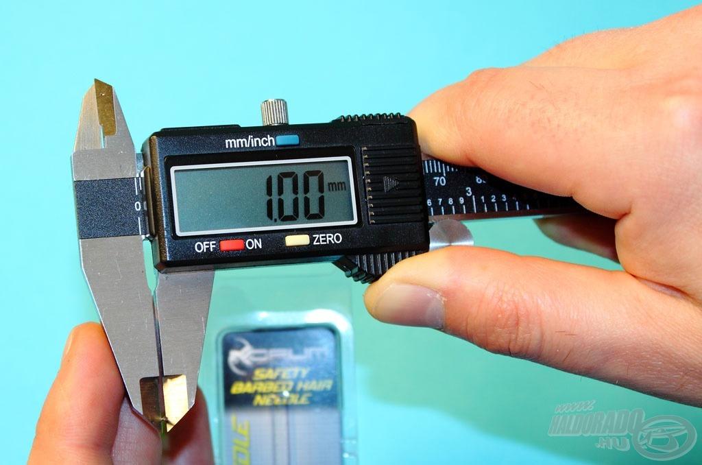 A tű átmérője 1 mm