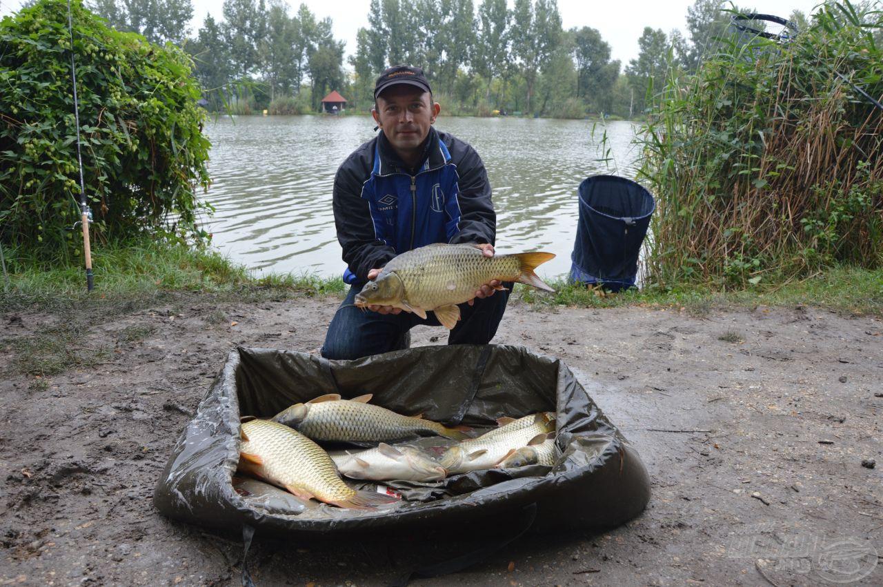 Azért a kicsik mellett jöttek darabosabb halak is mint kiderült.Pál Eörs vezeti a szektorát