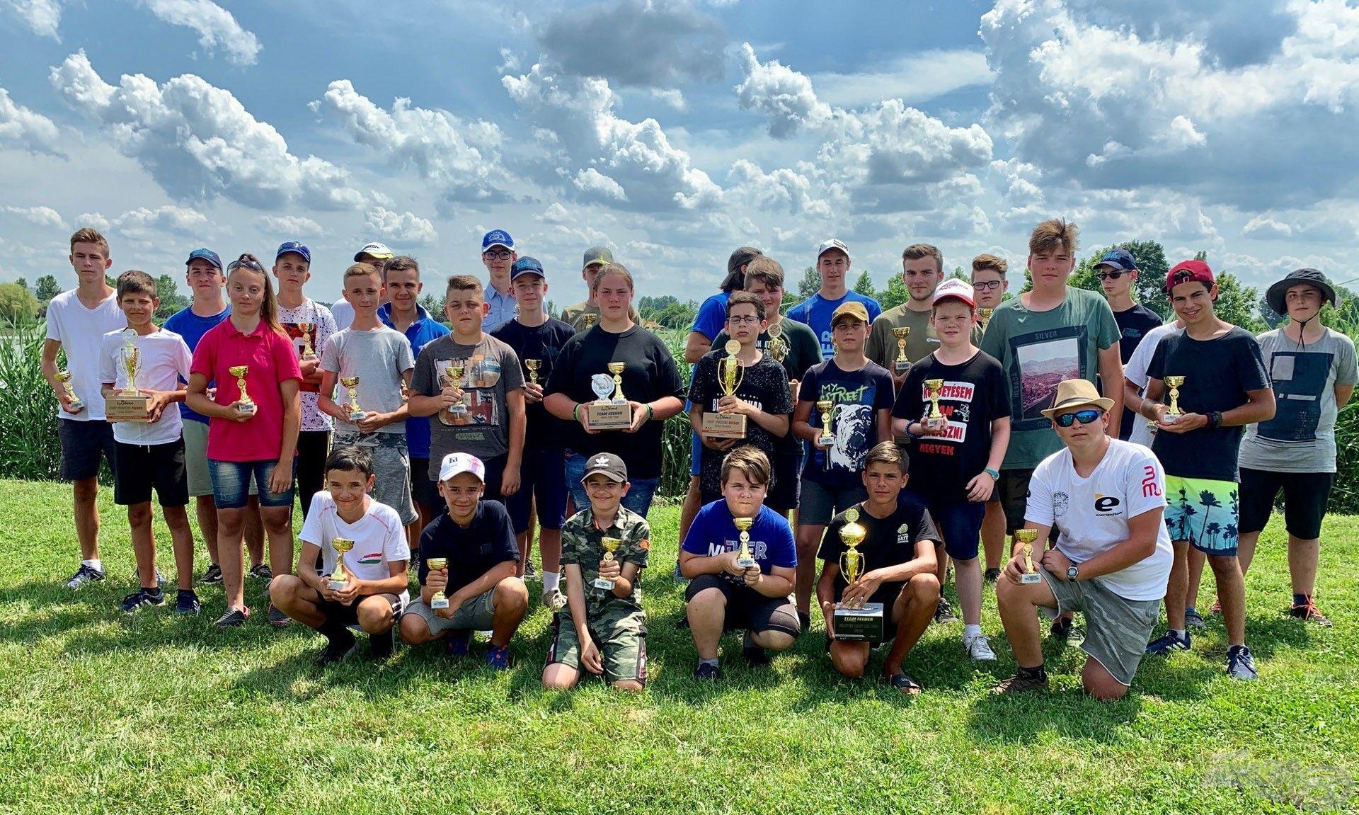 Az V. Haldorádó Junior Feeder Kupa győztesei