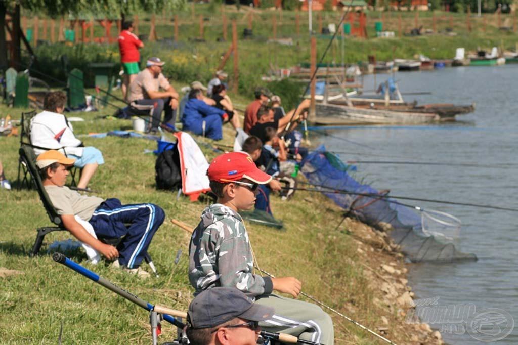 Az ifjú horgászok is megmérkőztek egymással