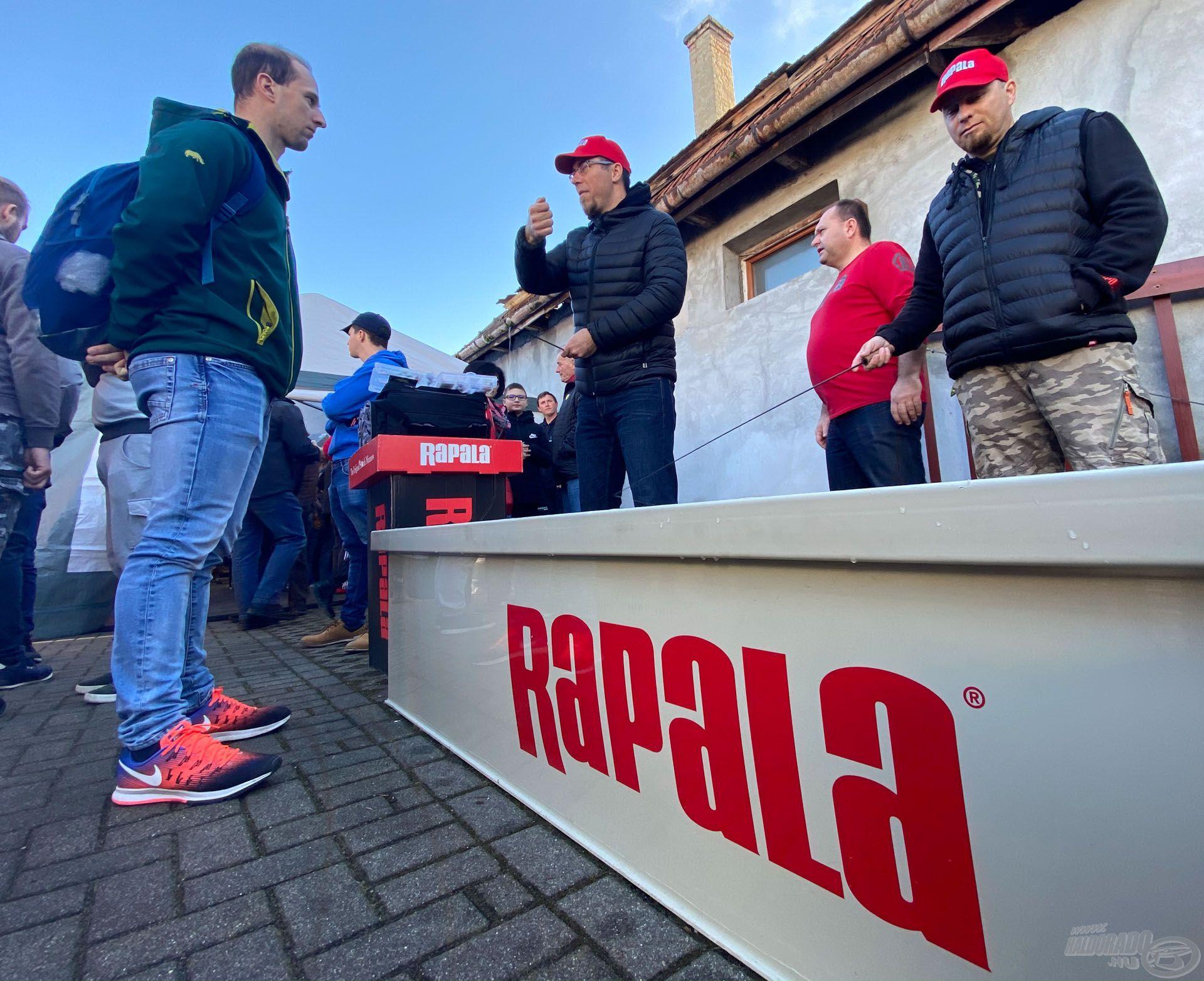 Rapala/Storm csalik is életre keltek a medencében