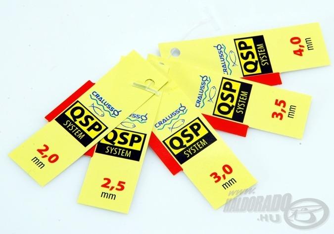 A QSP-s Cralusso zsinórokhoz mellékelt mérőlapok közül válasszuk ki a kapott értékhez legközelebbit