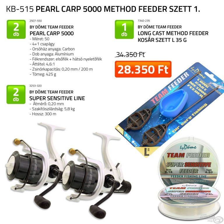 By Döme Pearl Carp 5000 Method Feeder szett 1