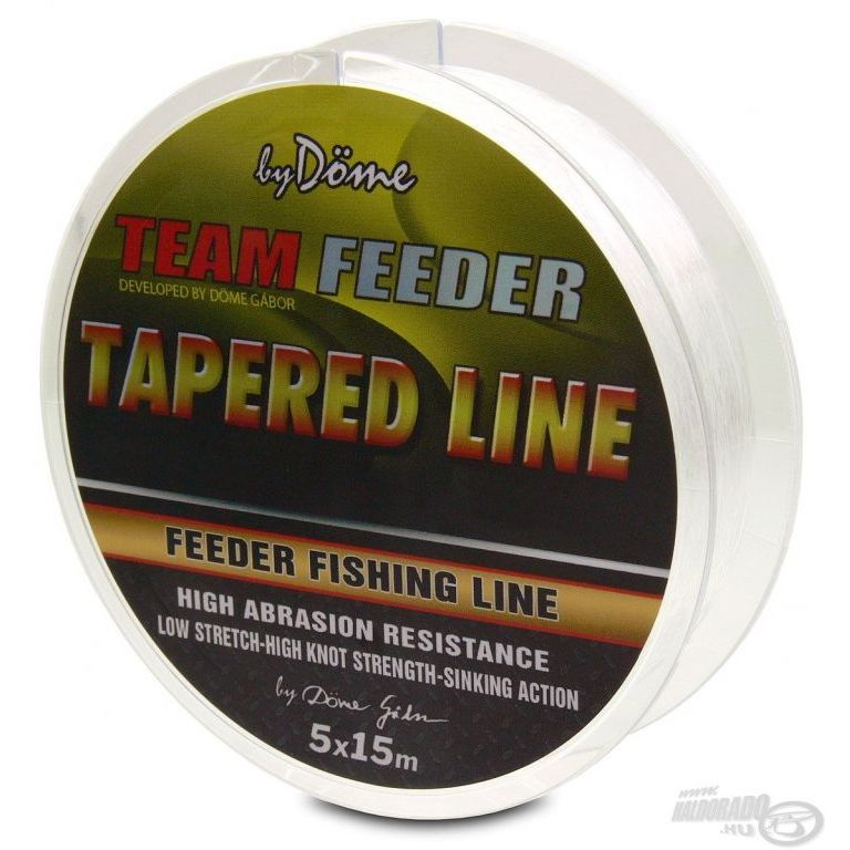 By Döme TEAM FEEDER Tapered Leader 5x15 m - 0,195-0,28 mm