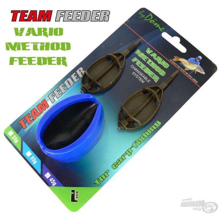 By Döme TEAM FEEDER Vario Method Feeder kosár szett L 45 g
