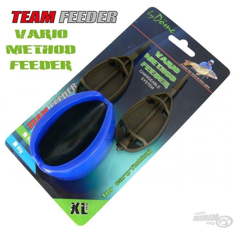 By Döme TEAM FEEDER Vario Method Feeder kosár szett XL 55 g